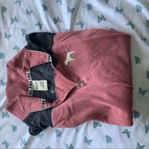 PINK quarter zip sweater